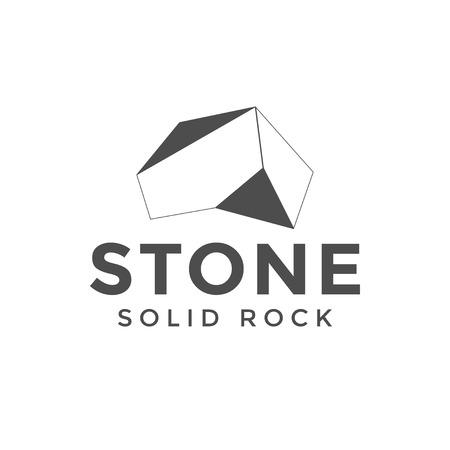 Ilustración de vector de plantilla de diseño de logotipo de roca de piedra