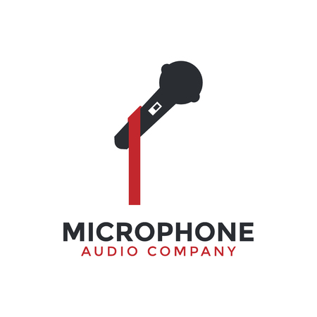 Microphone icon graphic design template illustration vector Banque d'images - 114604536