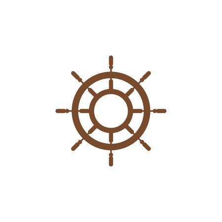 Ship wheel graphic design template vector illustration