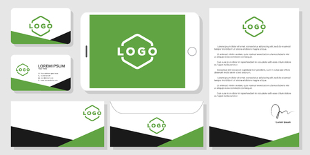 Stationery business card mockup design branding template vector