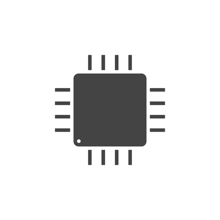Integrated circuit chip icon graphic design template vector isolated