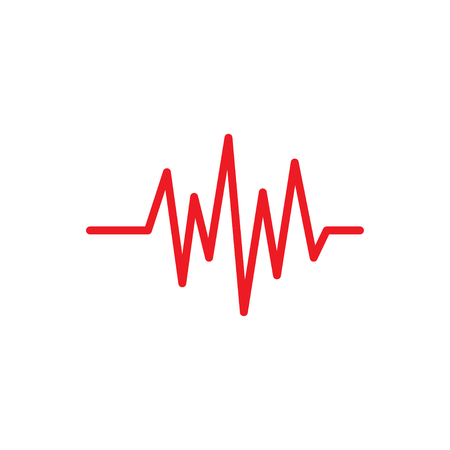 Pulse icon graphic design template vector isolated Ilustrace