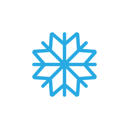Snowflake icon graphic design template vector isolated Иллюстрация