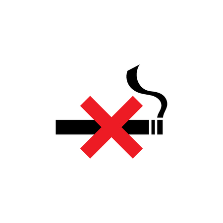No smoking icon graphic design template vector isolated