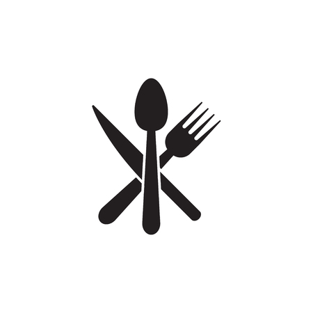 Spoon, knife, fork icon graphic design template vector isolated