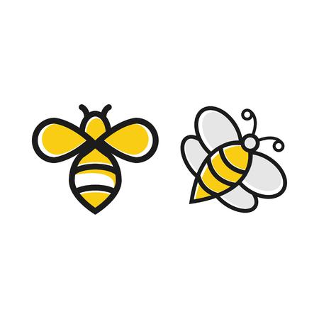 Bee honey graphic design template vector isolated Vetores