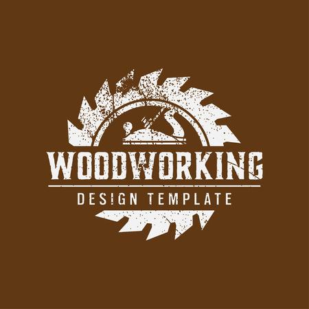 Designvorlage für Holzbearbeitungslogos