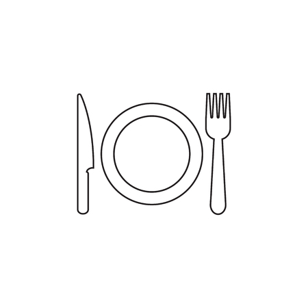 Utensil icon graphic design template vector isolated  イラスト・ベクター素材