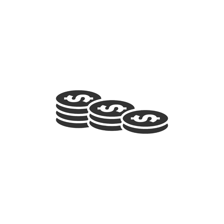 Coin stack icon graphic design template