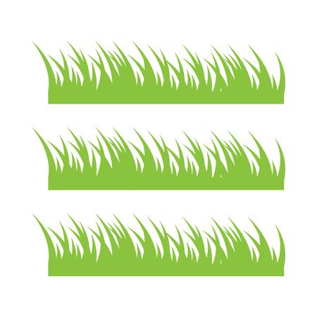 Grass icon design template vector graphic illustration Vektorové ilustrace