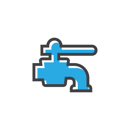 Faucet icon design template vector isolated illustration Banque d'images - 124767966