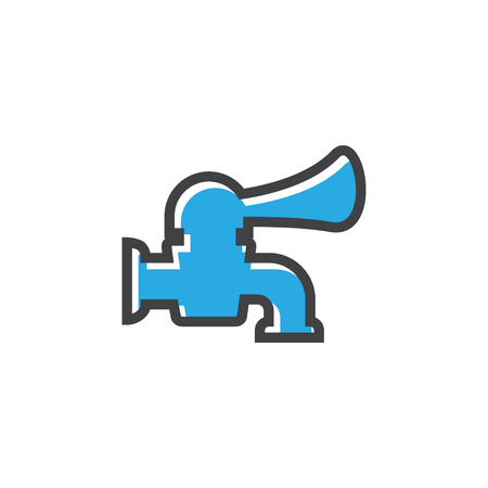 Faucet icon design template vector isolated illustration Reklamní fotografie - 124767970