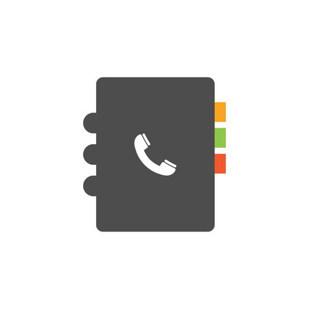 Phone book icon design template vector isolated illustration