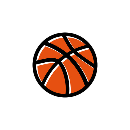 Basketball icon design template vector isolated illustration