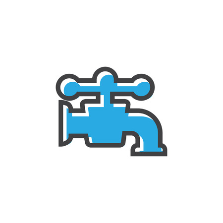 Faucet icon design template vector isolated illustration 向量圖像
