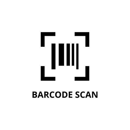 Barcode icon design template vector isolated illustration