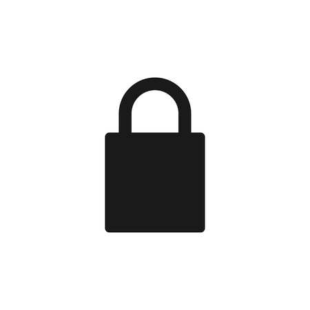 Padlock icon design template vector isolated illustration Imagens - 117979241
