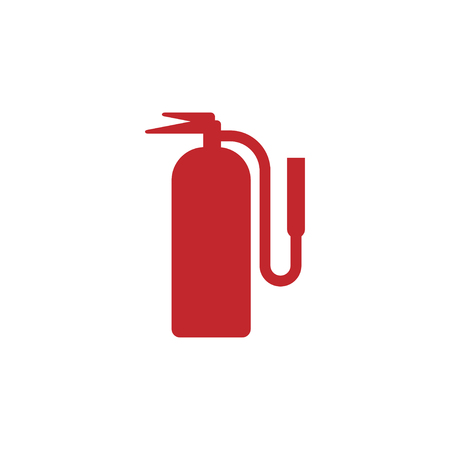 Fire extinguisher icon design template vector isolated illustration