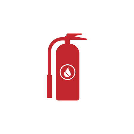 Fire extinguisher icon design template vector isolated illustration Banque d'images - 124768007