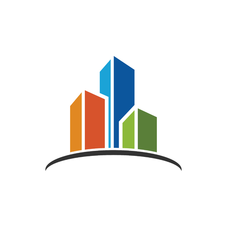 Building real estate icon design template vector isolated illustration