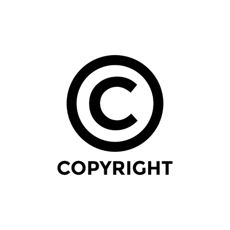 Copyright icon design template vector isolated illustration