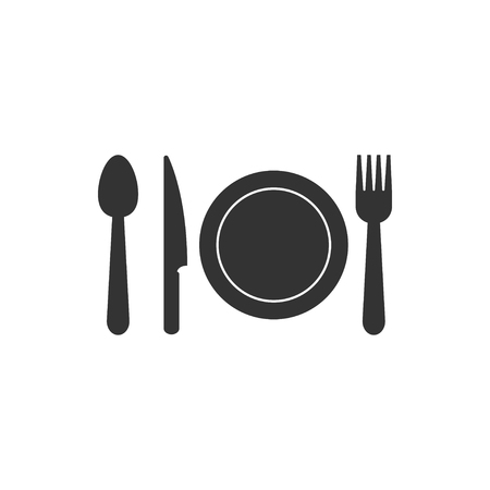 Cutlery icon design template vector isolated illustration  イラスト・ベクター素材