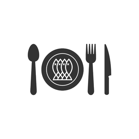 Cutlery icon design template vector isolated illustration 写真素材 - 118077669