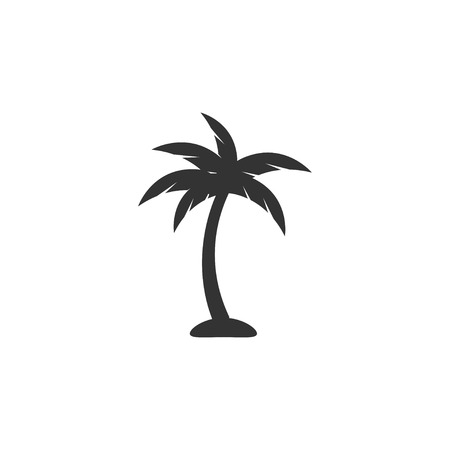 Palm tree icon design template vector isolated 向量圖像