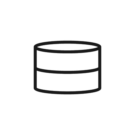 Database icon design template vector isolated Çizim