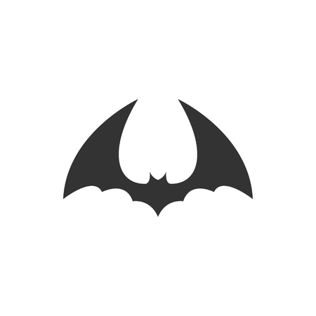 Bat animal icon design template vector isolated illustration Standard-Bild - 118079775