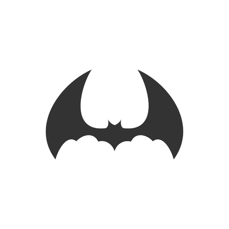 Bat animal icon design template vector isolated illustration Standard-Bild - 118079971