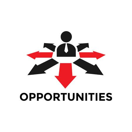 Chancen-Symbol-Design-Vorlage Vektor isoliert Illustration