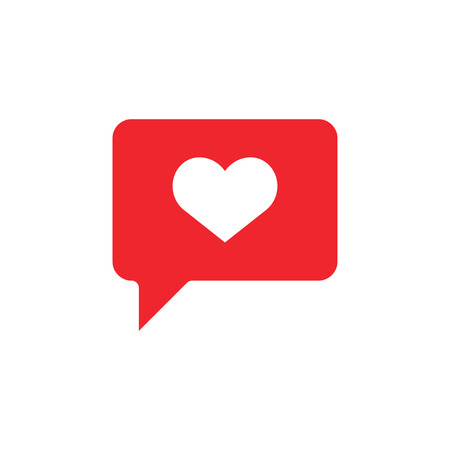 Chat love icon design template vector isolated illustration