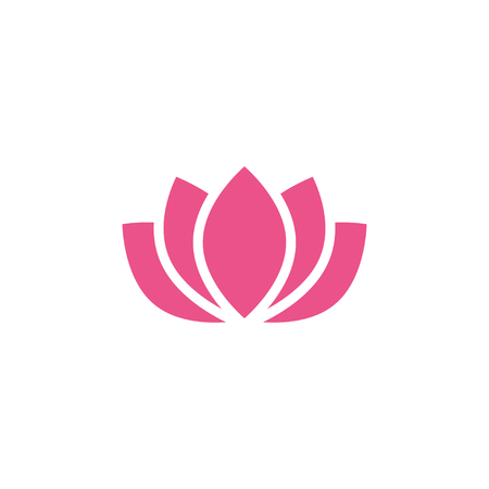 Pink lotus icon design template vector isolated illustration Ilustração