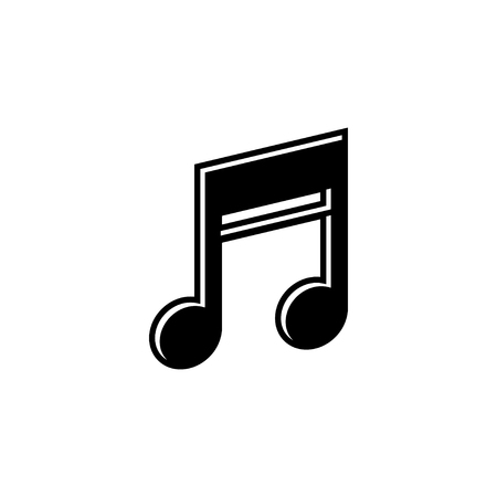 Music note graphic design template vector isolated illustration Vettoriali