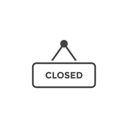 Closed sign graphic design template vector isolated illustration  イラスト・ベクター素材