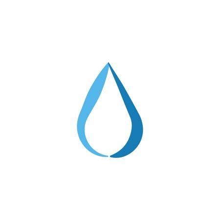 Wassertropfen abstrakte Grafikdesign-Vorlagenillustration Vektorgrafik