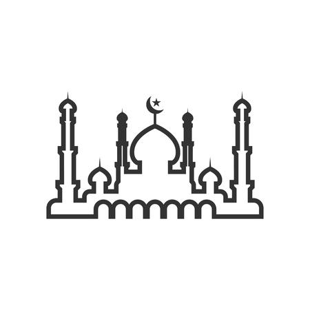 Mosque silhouette graphic design template vector illustration