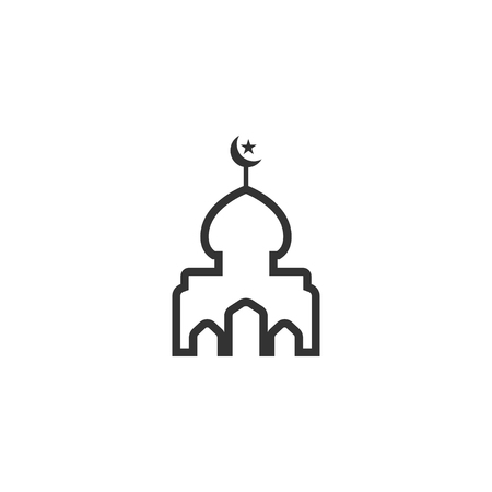 Mosque silhouette graphic design template vector illustration 向量圖像