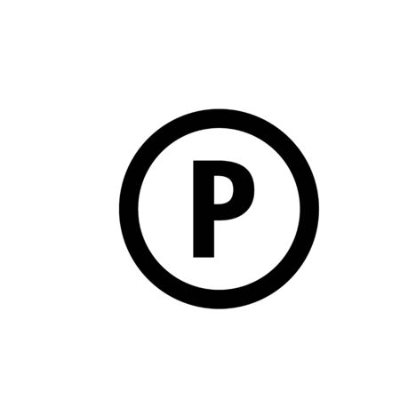 Parking lot icon graphic design template vector illustration