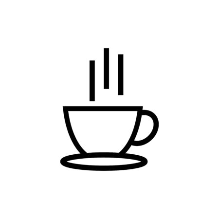 Hot coffee icon design template vector illustration isolated