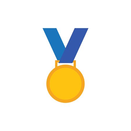 Medal icon design template vector illustration isolated