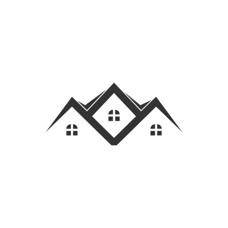 Residence house icon graphic design template vector isolated