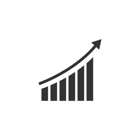 Illustrazione isolata vettore del modello di progettazione dell'icona di analisi