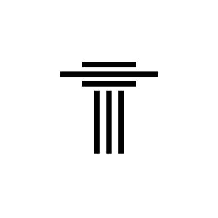 Pillar attorney at law icon graphic design template Illustration