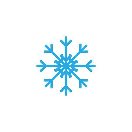 Snowflake icon graphic design template