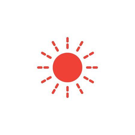 Sun hot icon graphic design template Ilustrace