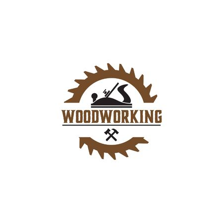 Woodworking gear  design template  element isolated