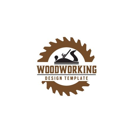 Élément de modèle de conception d'engrenage à bois isolé Vecteurs