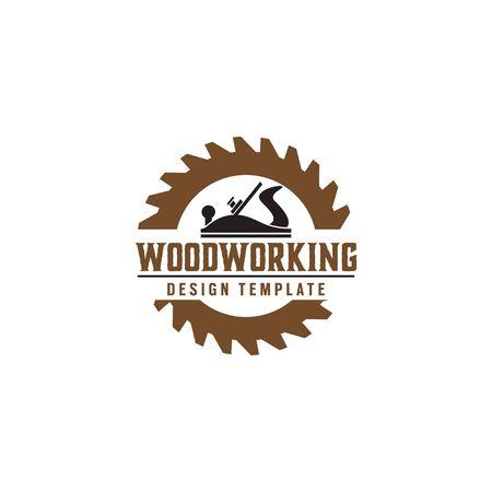 Holzbearbeitungszahnrad-Design-Vorlagenelement isoliert Vektorgrafik